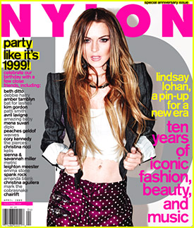 Lindsay Lohan on cover of April's Nylon
