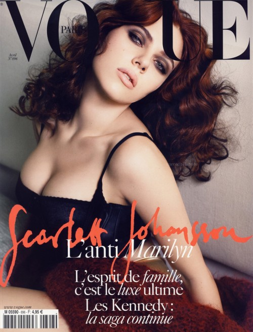 Scarlett Johansson: The cover of Paris Vogue